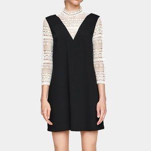 Zara lace contrast dress